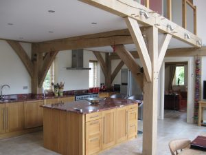 Oak framed kitchen at Purton Stoke