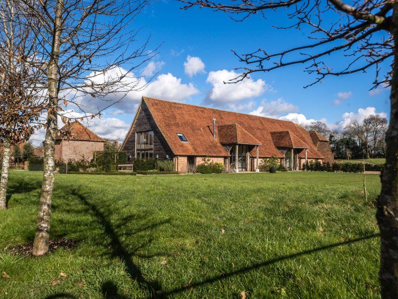 A converted barn on a farm site.