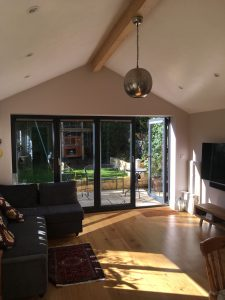 Bright airy living space in Newbridge extension